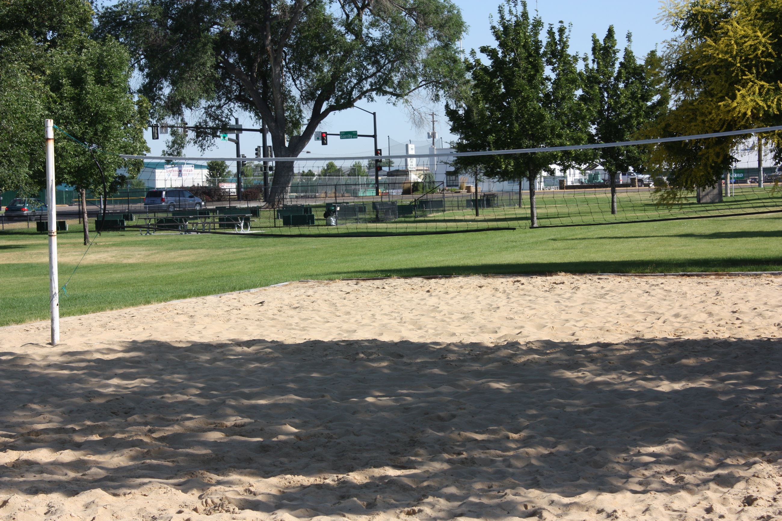 Sand volleyball court at Lakeview Park