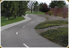 There Are Two Lanes Designated on the Nampa Recreation Center Fitness Trail