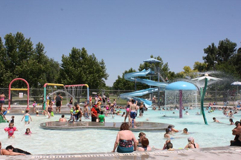 People playing in the water at Lakeview Water Park