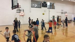 kids playing in rec center