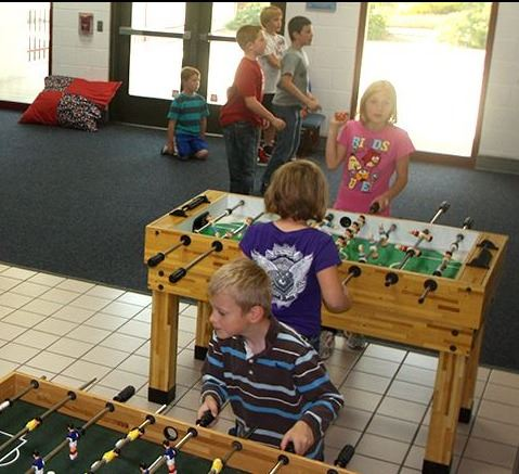 kids playing in youth activity center